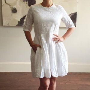 White Cotton Gap Midi Summer Dress 8